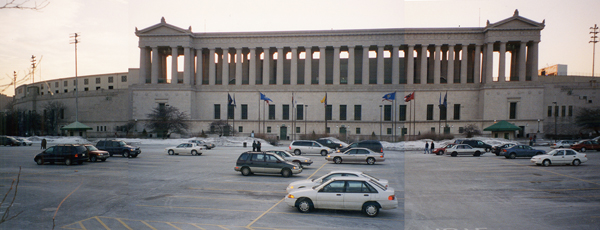 Existing condition: Soldier Field east parking lot image: courtesy of Hoerr Schaudt