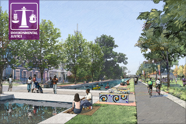 Lafitte Greenway + Revitalization Corridor image: Design Workshop, Inc.