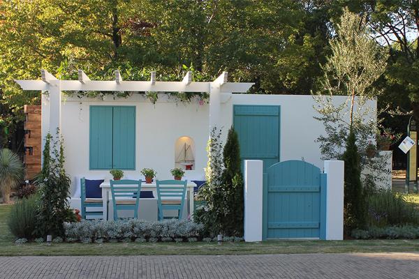 """""""Παρέα(Parea)"""" by Konstantina Stara of Landscape Architects of Bangkok (http://landscapebangkok.com) designed for Greek garden image: Konstantina Stara"""