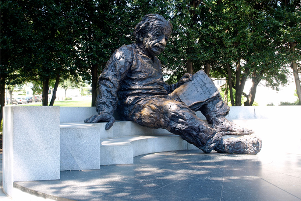 The Albert Einstein Memorial outside the National Academy of Sciences in Washington, DC image: Alexandra Hay
