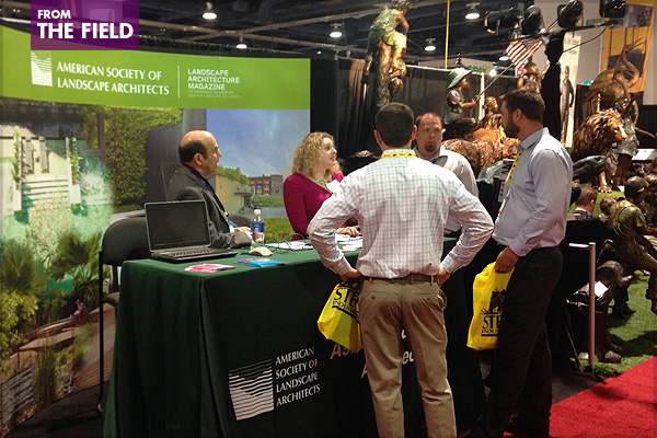 """Ask a Landscape Architect"" at ASLA's exhibit booth image: shawn balon"