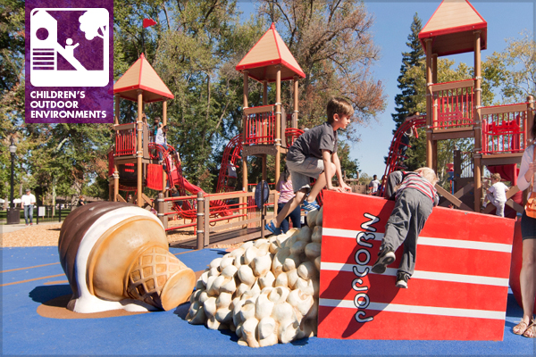 Concessions climber at McClatchy Park in Sacramento, CA, designed by Callander Associates image: Billy Hustace