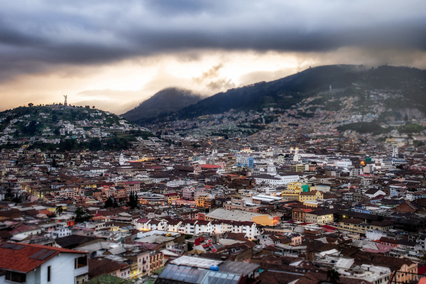 Old town of Quito image: Simon Matzinger via Flickr