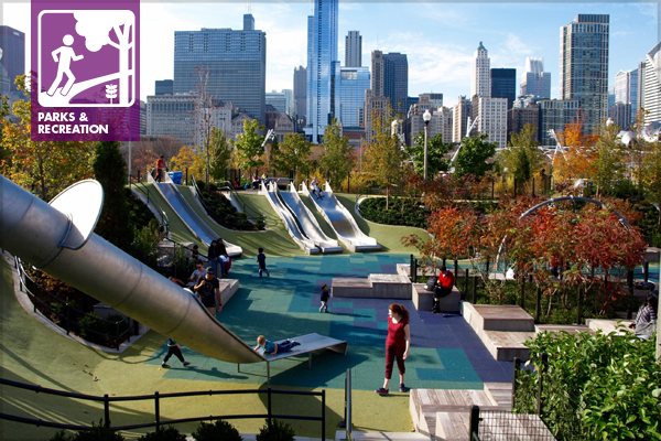 The Slide Crater in Chicago's Maggie Daley Park image: Alexandra Hay
