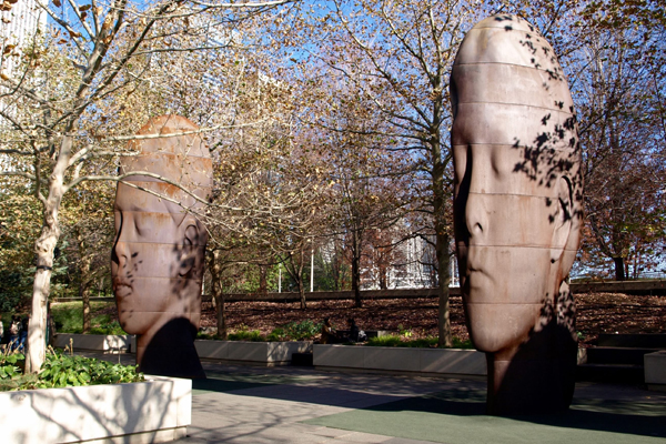 Art in parks - Jaume Plensa's 1004 Portraits in Chicago's Millennium Park image: Alexandra Hay
