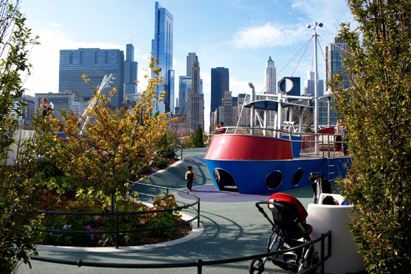 """The Sea"" area of Maggie Daley Park's Play Garden image: Alexandra Hay"