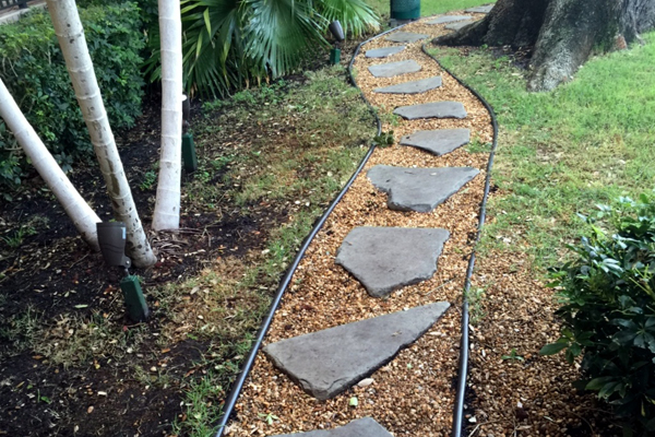 Spaced stepping stones encourage balance and movement skills. image: Amy Wagenfeld
