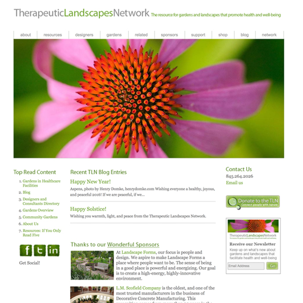 The Therapeutic Landscapes Network website image: Naomi Sachs