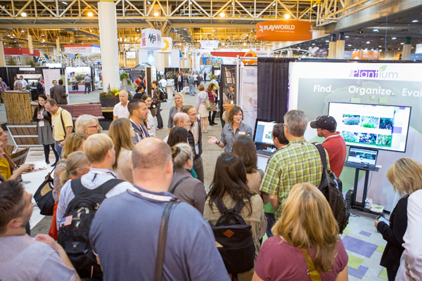 The Planting Design PPN EXPO Tour concluded at the Plantium's booth, where the presentation focused on new tools that allow landscape architects to more easily select plants and draft designs. image: Event Photography of North America Corporation (EPNAC)
