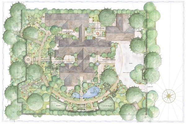 Water Calculation and Poetic Interpretation, 2016 Professional ASLA Honor Award, Residential Design Category image: Arterra Landscape Architects