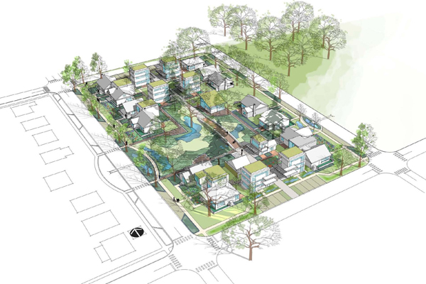 "Integrating Habitats: ""Growing Together"", Portland, OR, 2011 Professional ASLA Honor Award, Analysis and Planning Category image: AECOM"