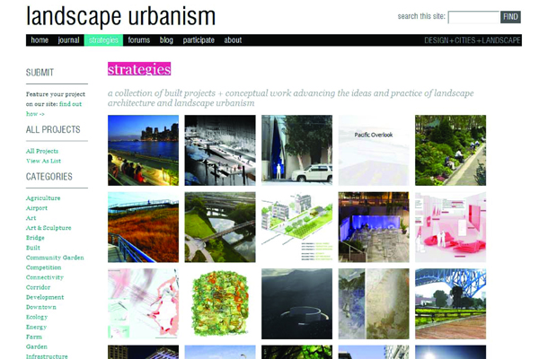 Landscape Urbanism Website and Journal, 2012 Professional ASLA Honor Award, Communications Category image: Landscape Urbanism