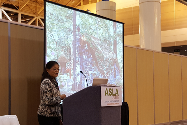 Professor Lolly Tai discusses design considerations for children's gardens image: Lisa Horne