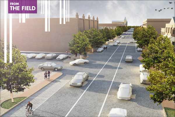 """South Grand Boulevard """"Great Streets Initiative,"""" St. Louis, MO, 2011 Professional ASLA Honor Award, Analysis and Planning Category image: Design Workshop, Inc."""