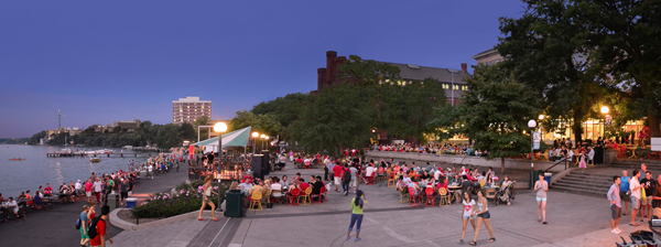 The University of Wisconsin-Madison's Memorial Union Terrace on Lake Mendota / image: Richard Hurd via Flickr