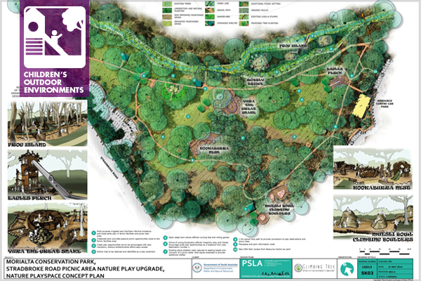 Morialta Conservation Park, Nature Playspace Concept Plan / image: Peter Semple Landscape Architect (PSLA)