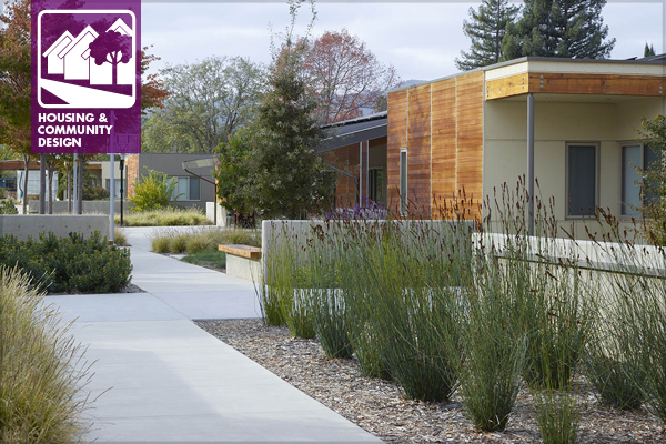 ASLA 2015 Professional Residential Design Honor Award. Sweetwater Spectrum Residential Community for Adults with Autism Spectrum Disorders, Sonoma, CA. Roche+Roche Landscape Architecture / image: Marion Brenner, Affiliate ASLA