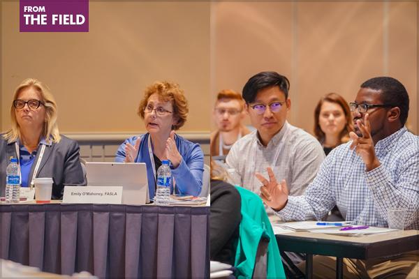Exam prep workshop presenters and participants