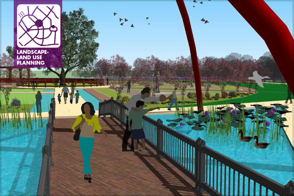 Design concept for the Burton Station Commemorative Park