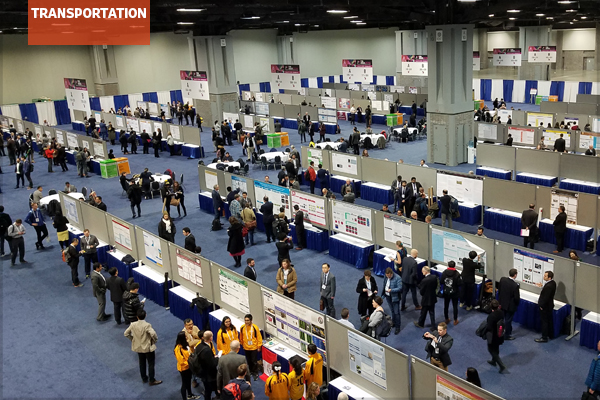 Posters on display at the 2018 TRB Annual Meeting