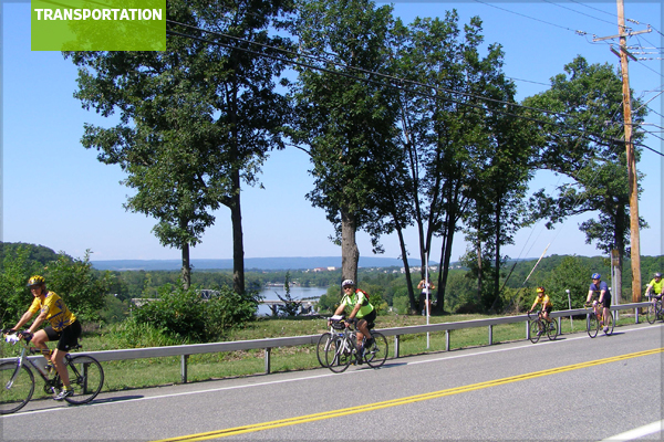 Bicyclists on the Mohawk Towpath Scenic Byway