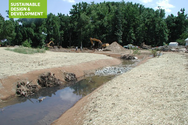 Stream restoration under construction